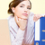 woman in office near laptop and file stock photo © imarin