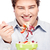 chubby man and salad stock photo © imarin