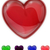 redpurplegreenpink and blue glass shiny heart stock photo © impresja26