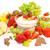 fresco · uvas · verdes · amarelo · tigela · mesa · de · madeira · comida - foto stock © inganielsen