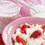 requeijão · morango · iogurte · nata · saudável · café · da · manhã - foto stock © IngridsI
