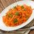 cenoura · salada · salsa · folhas · rústico - foto stock © IngridsI