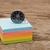 színes · post · it · jegyzet · iránytű · fa · asztal · papír - stock fotó © inxti