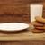 üveg · tej · zab · sütik · fából · készült · asztal - stock fotó © inxti