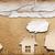casa · carta · mano · tenere · verde · campo - foto d'archivio © inxti