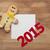 karácsony · 2015 · süti · házi · készítésű · festett · mézeskalács · ember - stock fotó © inxti
