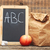 school lunch with black chalkboard ready for your text stock photo © inxti