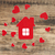 house icon and small hearts home sweet home stock photo © inxti