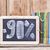 ninety percent discount written on blackboard with colorful shop stock photo © inxti