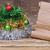 arbre · de · noël · vieux · papier · défiler · table · vert · hiver - photo stock © inxti