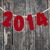 2014 new year hanging rope on old wood background stock photo © inxti