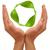 recycling · symbool · handen · geïsoleerd · witte · milieu - stockfoto © inxti