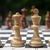 white chess pieces on the board stock photo © inxti