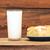 appel · cake · glas · melk · Blauw · voedsel - stockfoto © inxti