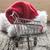 mikulás · bevásárlókocsi · fehér · férfi · vásárlás · jókedv - stock fotó © inxti