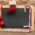 blank blackboard with christmas decoration stock photo © inxti