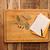 cuaderno · recetas · pasta · especias · mesa · de · madera · libro - foto stock © inxti