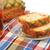 closeup delicious sweet pie with tea on colorful napkin stock photo © inxti