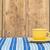 renkli · kahve · fincanları · şerit · masa · örtüsü · ahşap · duvar - stok fotoğraf © inxti