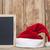 blackboard with santa hat stock photo © inxti