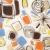 ヴィンテージ · ファブリック · 詳細 · クローズアップ · カラフル · 抽象的な - ストックフォト © iofoto