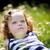 little · girl · verde · campo · foco · cara · família - foto stock © Ionia
