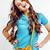молодые · довольно · длинные · волосы · женщину · счастливым · улыбаясь - Сток-фото © iordani