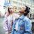 cute young couple of teenagers girlfriends having fun traveling europe modern fashion citylife li stock photo © iordani