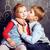 bonitinho · menina · beijando · irmão · mulher · trabalhar - foto stock © iordani