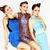 groep · stijlvol · dames · heldere · jurken - stockfoto © iordani