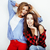 two best friends teenage girls together having fun posing emotional on white background besties ha stock photo © iordani