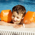 little cute boy in swimming pool stock photo © iordani