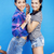 best friends teenage girls together having fun, posing emotional on blue background, besties happy s stock photo © iordani