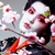 gueixa · quimono · preto · jovem · belo · asiático - foto stock © iordani