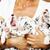 mão · humana · muitos · filhotes · de · cachorro · dálmata - foto stock © iordani
