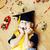 little cute preschooler boy among toys lego at home in graduate hat educational people concept stock photo © iordani