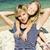 美しい · 母親 · 娘 · 熱帯ビーチ · 水 - ストックフォト © iordani