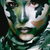beautiful young fashion woman with military style clothing and face paint make up khaki colors stock photo © iordani