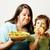 成熟した女性 · サラダ · かわいい · 少年 - ストックフォト © iordani