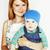 modern · anya · felső · kilátás · fiatal · terhes · nő - stock fotó © iordani