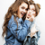 best friends teenage girls together having fun posing emotional on white background besties happy stock photo © iordani