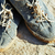 picture of vintage old shabby sneakers at seacost real forgotte stock photo © iordani