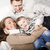 young happy modern family smiling together at home lifestyle people concept father holding baby so stock photo © iordani