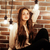 pretty teenage girl having fun in stylish modern loft studio lifestyle people concept stock photo © iordani