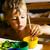 gelukkig · kid · tekening · home · school · kleuterschool - stockfoto © iordani
