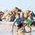 gelukkig · gezin · strand · spelen · vader · zoon · lopen · zee - stockfoto © iordani