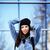 young pretty girl near business building walking stock photo © iordani