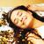 beauté · jeune · fille · or · confettis · tiare · peu - photo stock © iordani