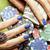 verde · pôquer · cartão · tabela · pano · macro - foto stock © iordani