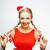 肖像 · 女性 · 赤 · クリスマス · 帽子 - ストックフォト © iordani